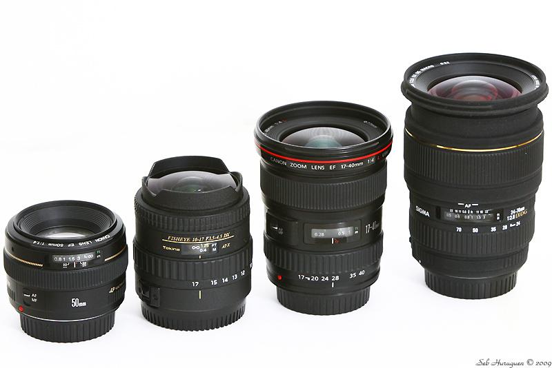 comparaison de plusieurs objectifs Canon Sigma et Tokina